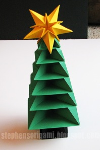 Origami Christmas Tree Tutorial 35watermark