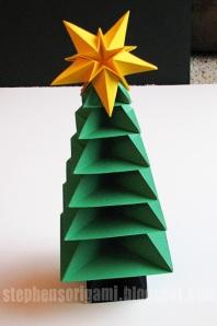 Origami Christmas Tree Tutorial 35watermark